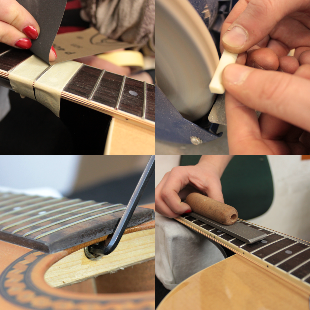 akcja strun t.burton gitara akustyczna regulacja