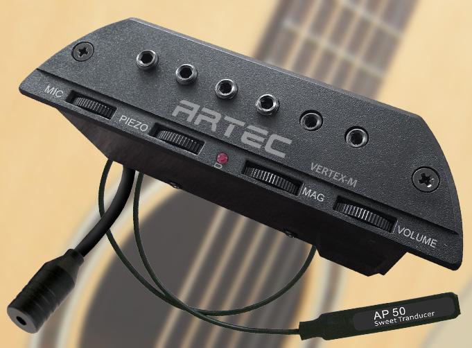 Artec VERTEX-M Przetwornik Aktywny Magnetyczny Humbucker przetwornik do gitary gitara elektroakustyczna t.burton pickup
